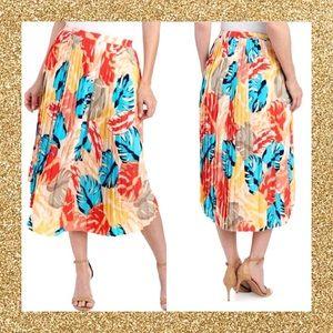 NWT | LAUNDRY by Shelli Segal pleated midi skirt